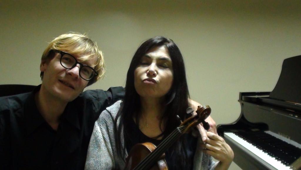 Michel Lysight Compositeur Ayse Ozbekligil violon Jerome Rigaudias piano